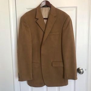 Men's Tan Suede Sport Coat Size 44L